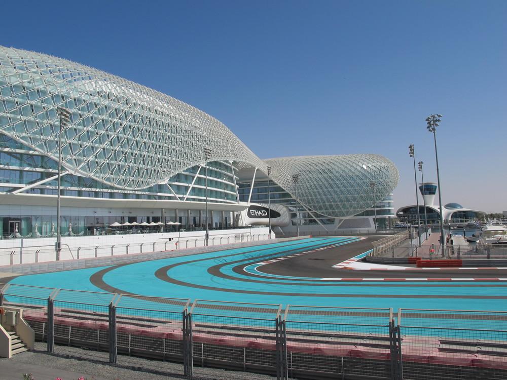 The Yas Viceroy Hotel and F1 Circuit on Yas Island, Abu Dhabi