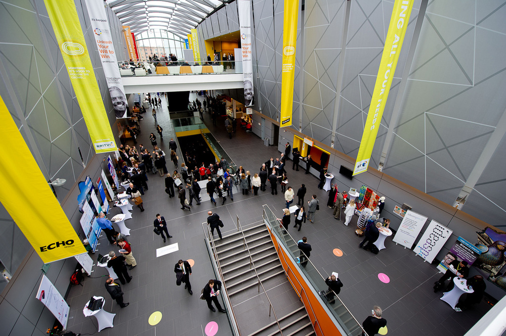 The central atrium of the ACC as delegates arrive for GEC 2012