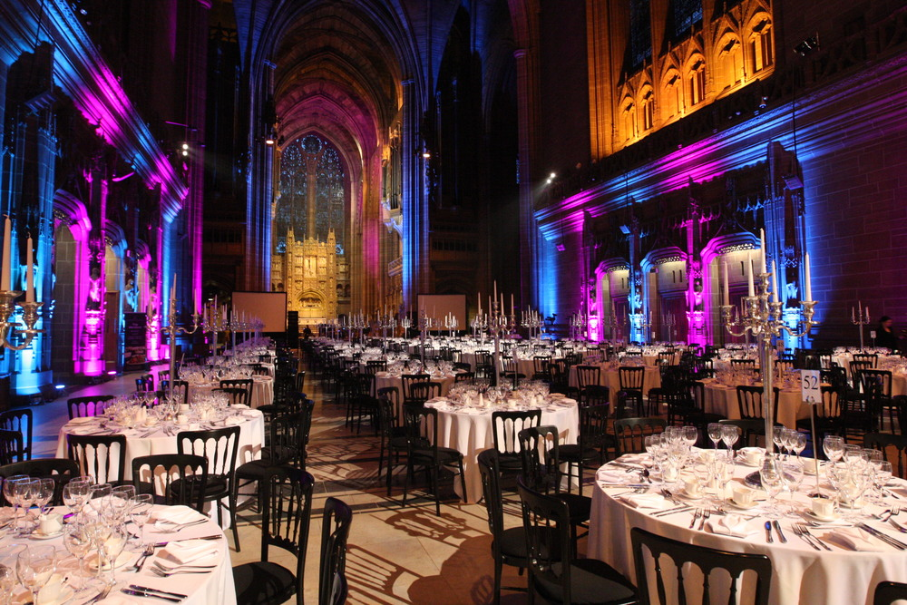 The gala dinner at Liverpool's Anglican Cathedral