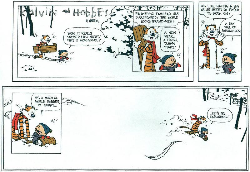 Calvin and Hobbes last strip