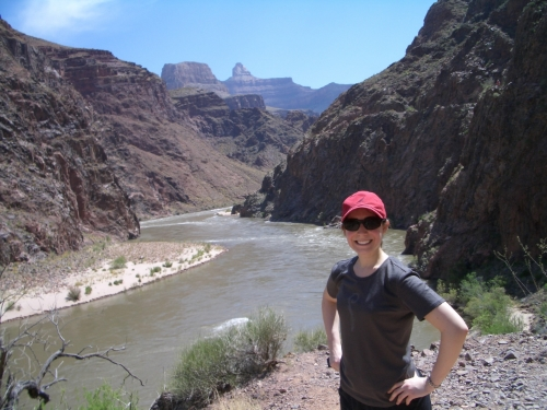 Katie in Grand Canyon