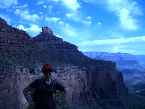 Katie Hiking Grand Canyon