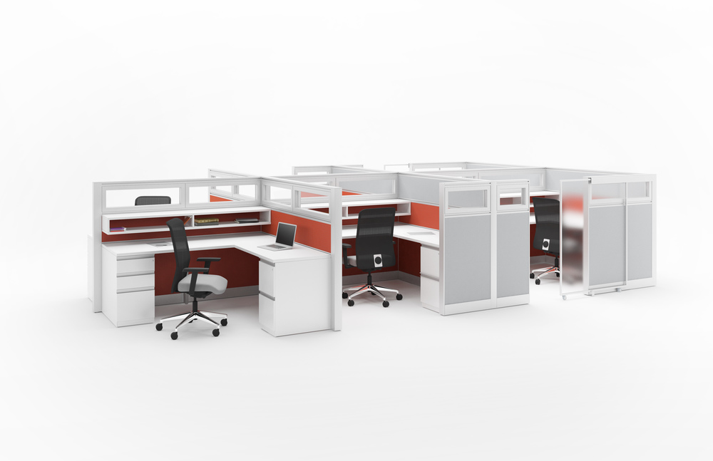 Xsite panels, Footprint surfaces, Metal filing and Campos seating