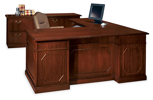 Senator desk and storage with Muirfield seating
