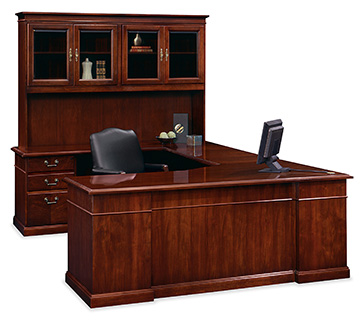 President desk and storage with Independence seating