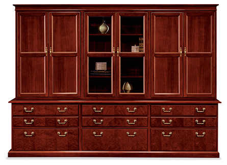 President executive wall unit created from storage components