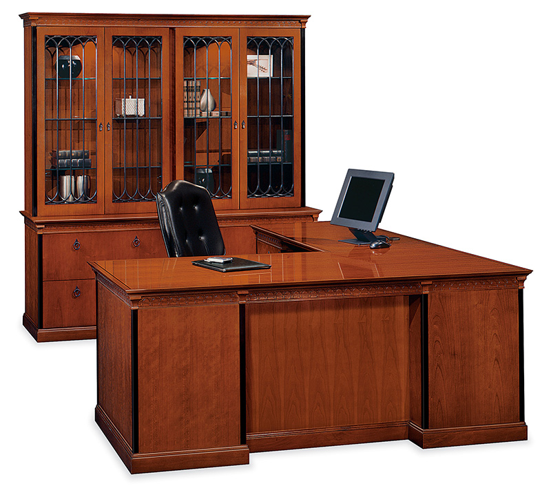 Innsbruck desk and storage with Clairmont executive seating