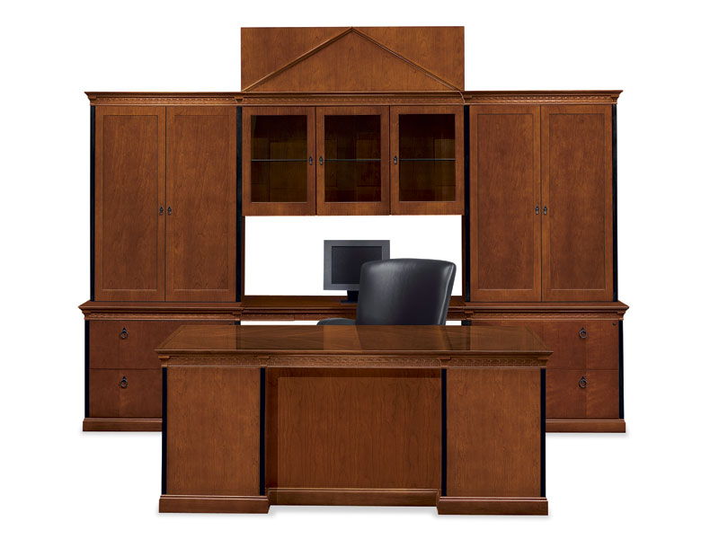 Innsbruck executive desk and storage with Stature seating