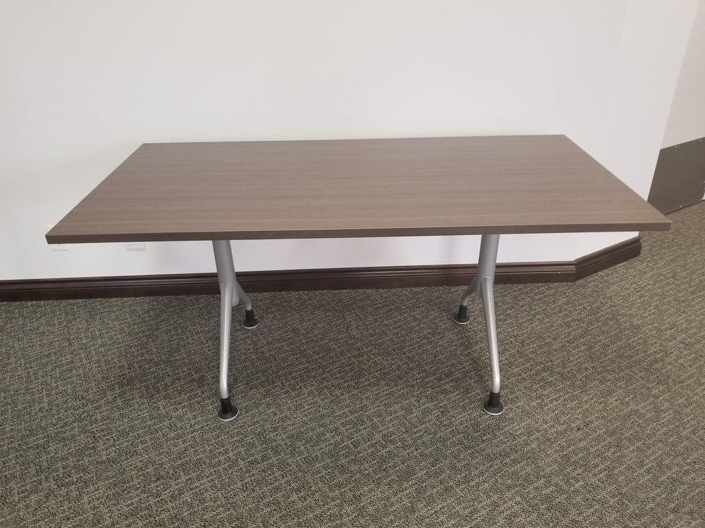 "30"" x 60""table - dark brown laminate finish"