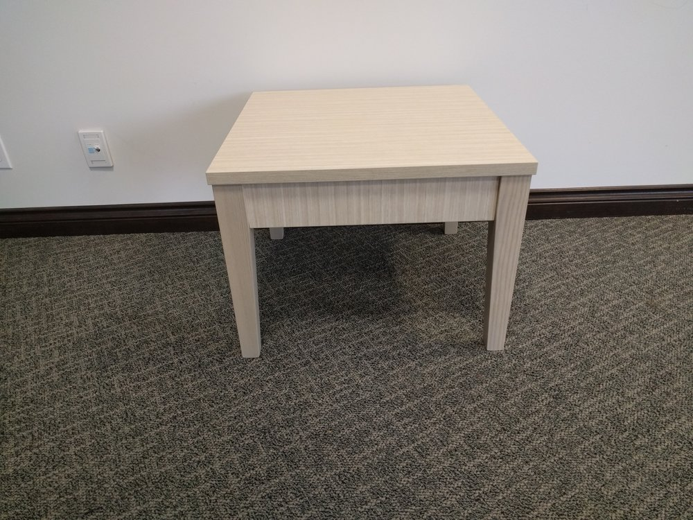 "24"" square cream occasional table - 2 available"