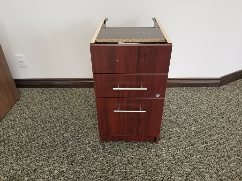 "box/box/file - under surface 18""d - mahogany finish"