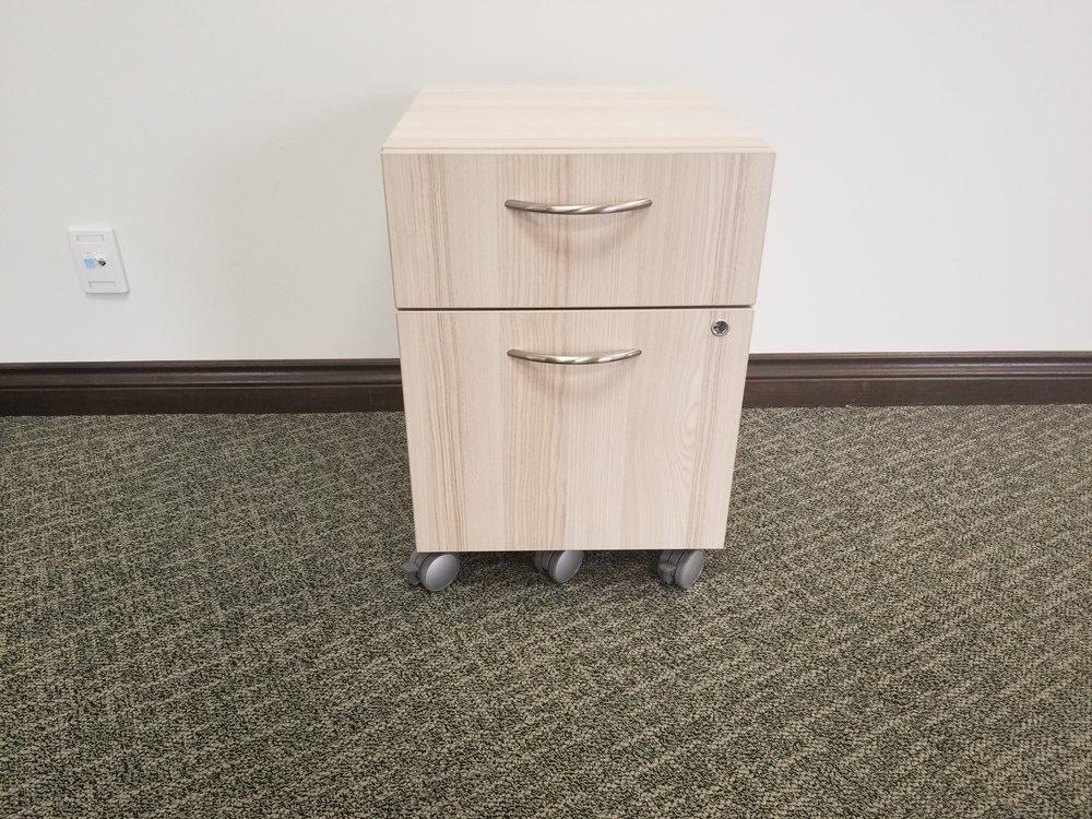mobile box/file pedestal - acacia finish