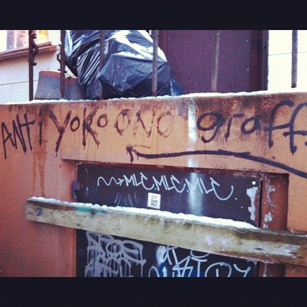 Anti-Yoko Ono sentiment detected. #yokoono #rekjavik #graffiti (Taken with  Instagram  at Rekjavik)