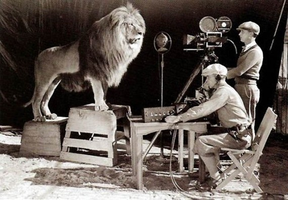 MGM logo shoot, 1924