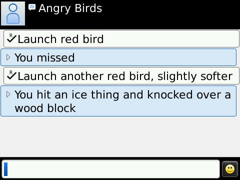 Angry Birds for Blackberry (via  kushari  on  reddit)