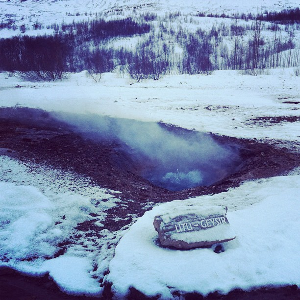 Litli Geysir #iceland #geysers (Taken with Instagram at Geysir)