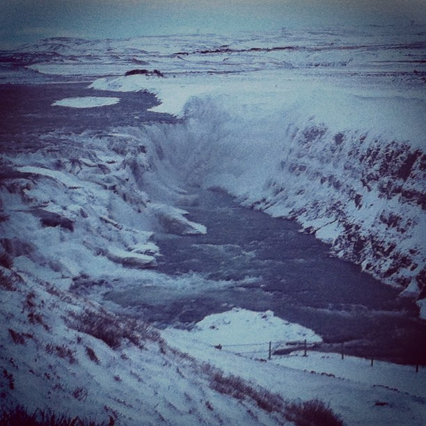 Glacial Waterfall #iceland #geology #glaciers #waterfalls (Taken with  Instagram  at Gullfoss Waterfall)