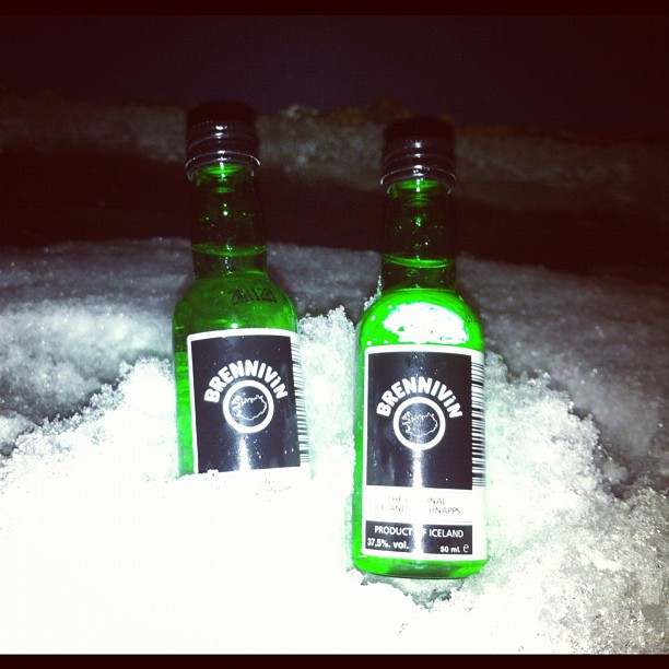 Black Death #brennivin #iceland  (Taken with  Instagram  at Hótel Frón)