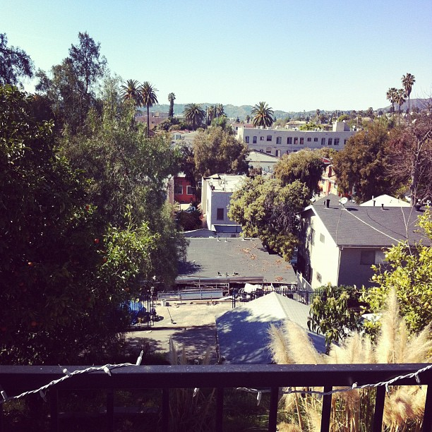 Christian and Jeannie's balcony (Taken with Instagram at Cozy Silverlake Pad)