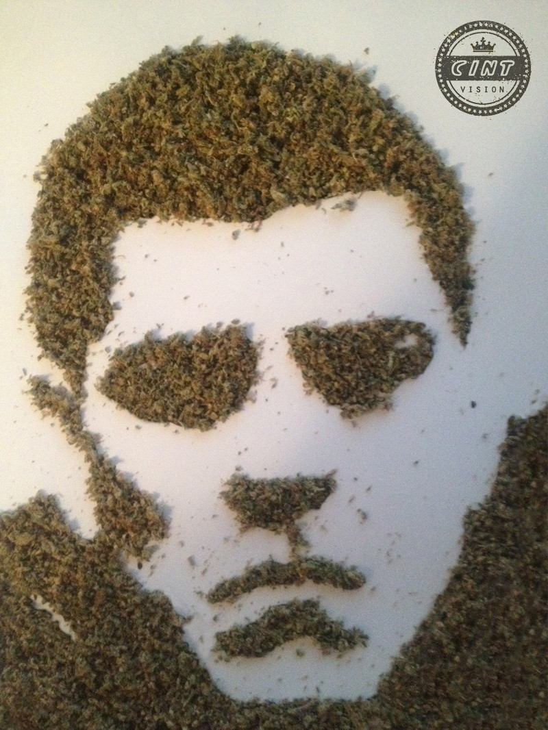 Ever make a portrait of Nick Diaz…. with weed?