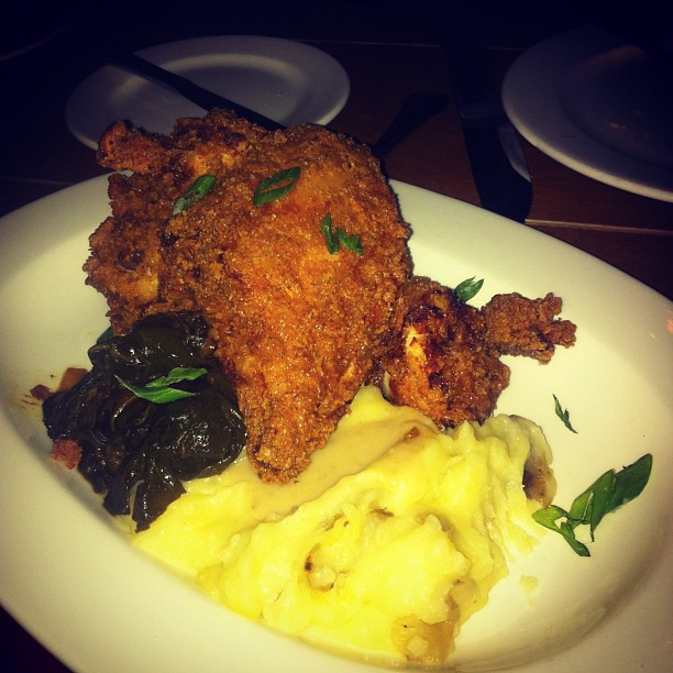 #food #california #sanfrancisco #friedchicken (Taken with  Instagram  at Town Hall Restaurant)