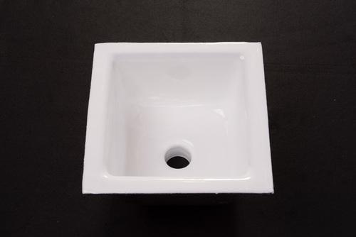 No Hub Floor Sink - Porcelain Enameled, Cast Iron Body