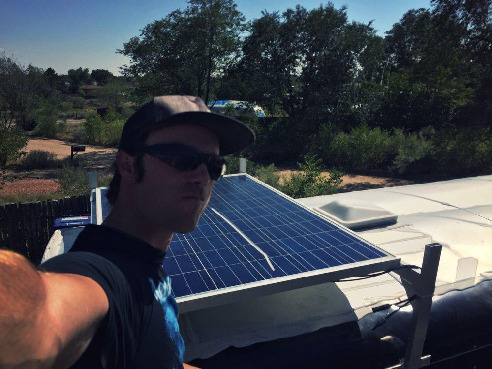 Solar selfie.