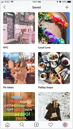 "My categorized ""Saved"" Folders on Instagram"