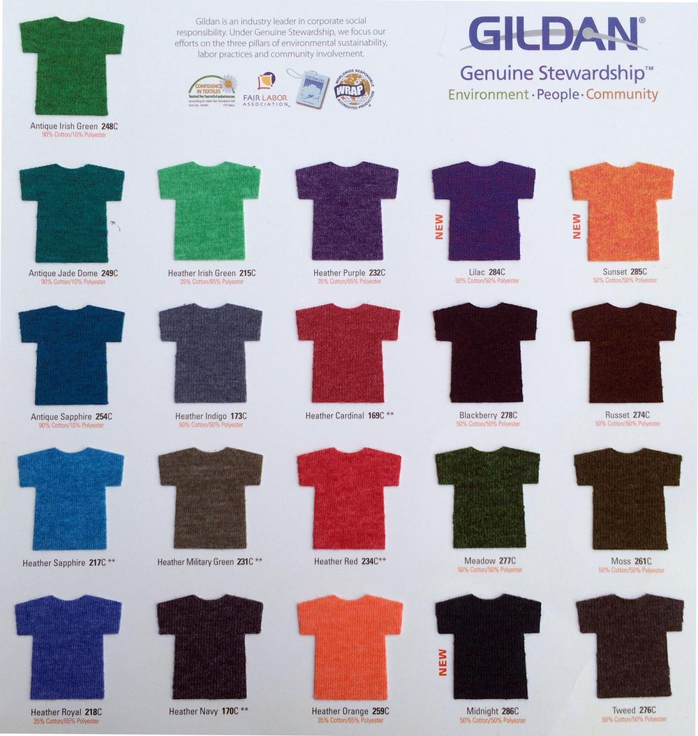Shirt colors west coast designz below are a list of shirt colors nvjuhfo Images
