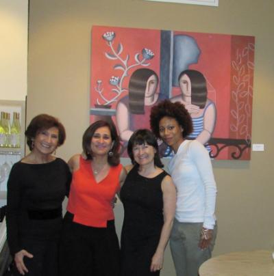Simin, Shiva, Patricia, Yemi