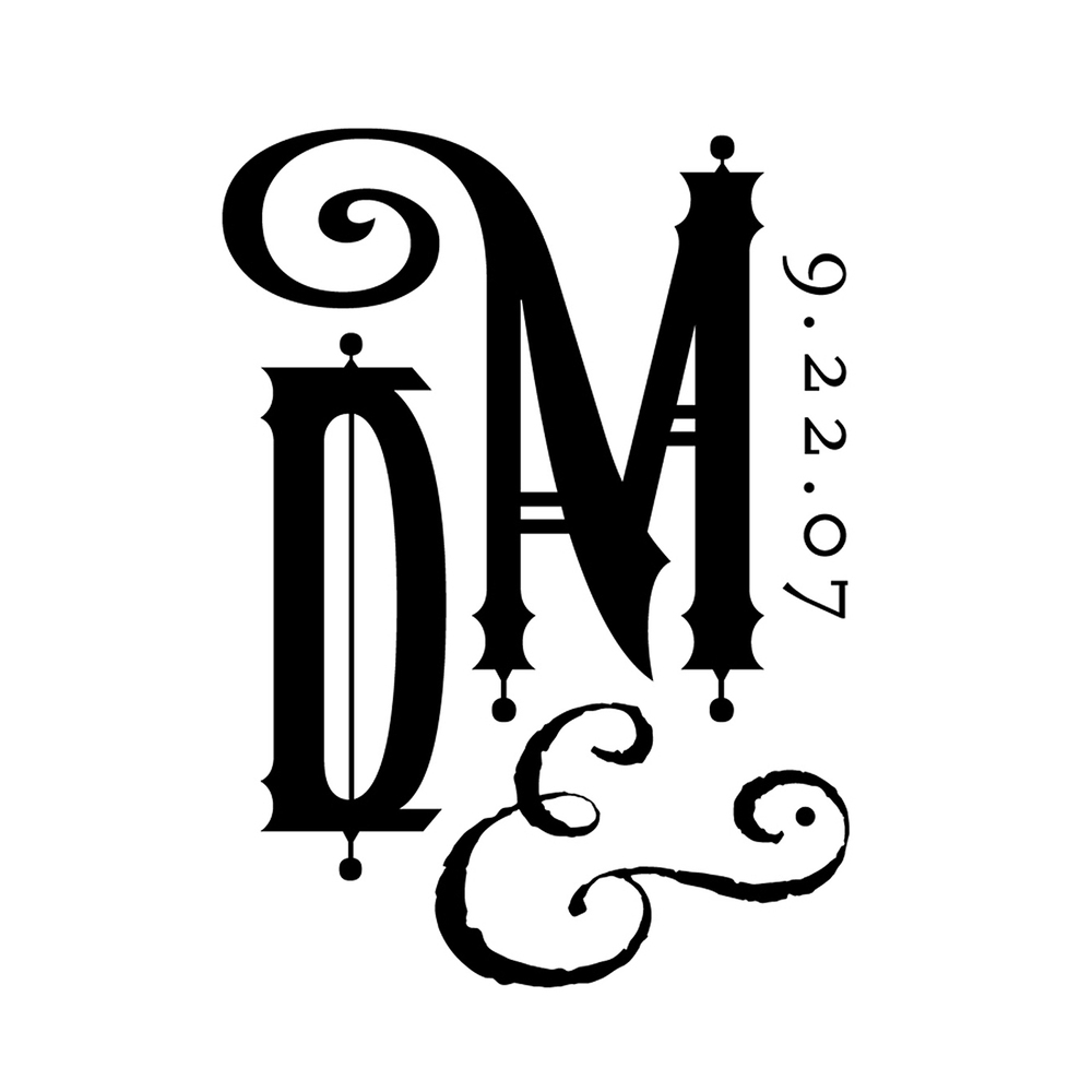 DAVID | MICHELLE, wedding logo