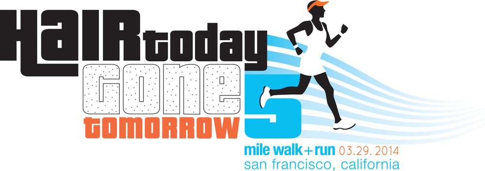 HAIR TODAY GONE TOMORROW LOGO   |   5 mile walk/run, San Francisco, ca., benefitting the National Alopecia Society, honoring Michelle Devencenzi Rhein