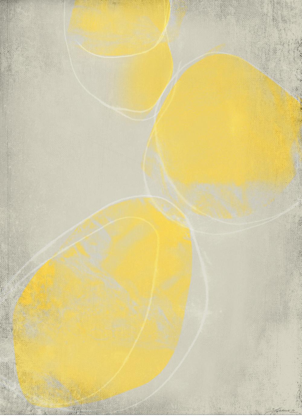 BIG YELLOW 02 : acrylic, aqua-pencil, chalk • • • SHOP ART • • •
