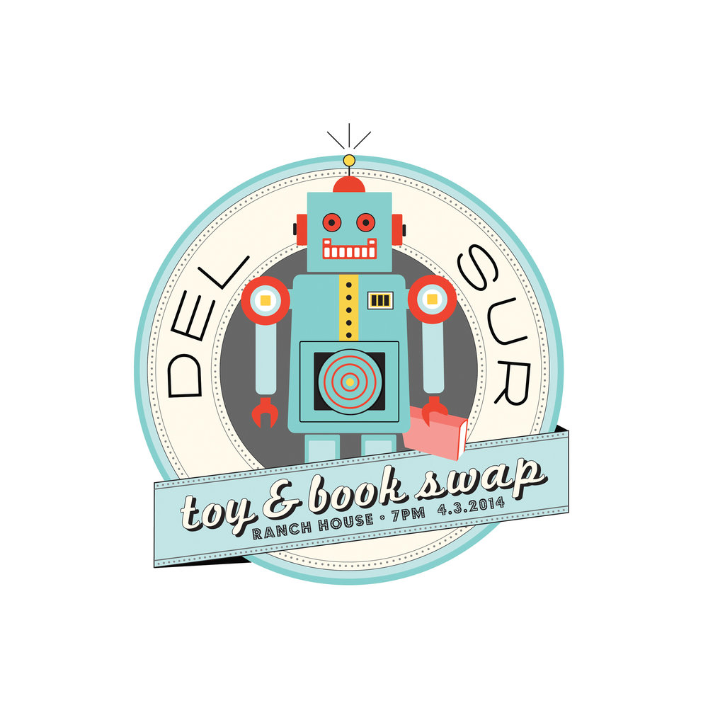 DEL SUR TOY & BOOK SWAP LOGO
