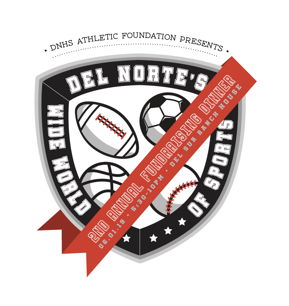 FUNDRAISING DINNER LOGO FOR THE DEL NORTE HIGH SCHOOL ATHLETICS BOOSTER CLUB , 2019