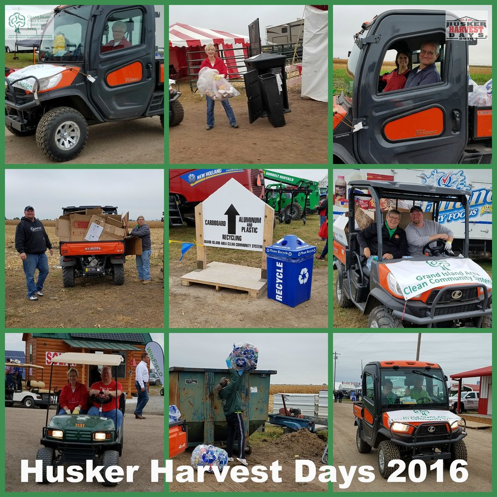 Husker Harvest Days 2016 recycling efforts were a huge success this year! We collected 3 tons of cardboard and a half ton of plastic & aluminum.
