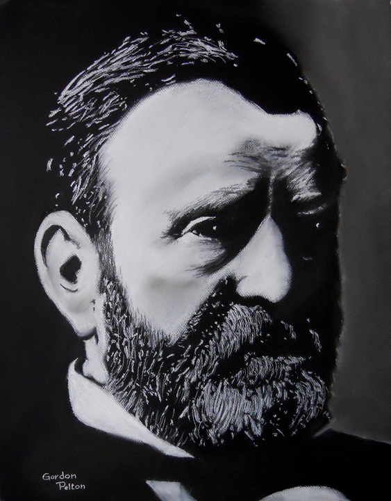 "Ulysses S. Grant 18"" x 24"" Unframed Pastel $1295 Giclee Copies Available  PLACE ORDER"