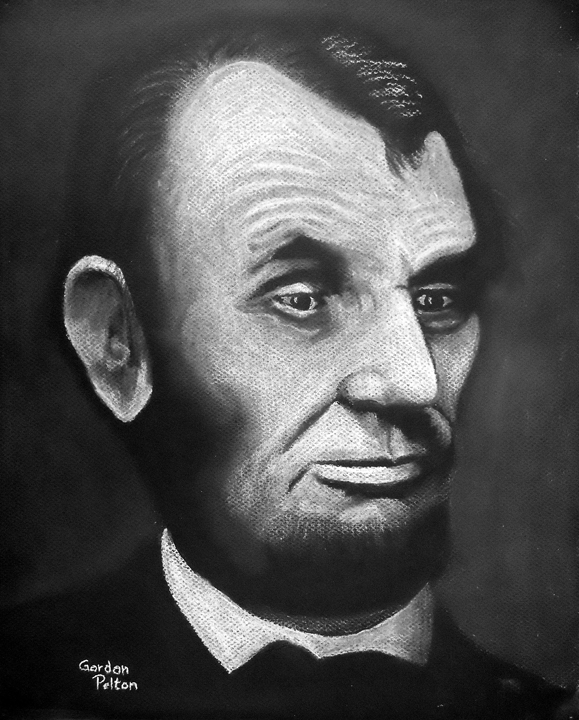 "Abraham Lincoln 1 12"" x 16"" Unframed Pastel $650 Giclee Copies Available    PLACE ORDER"