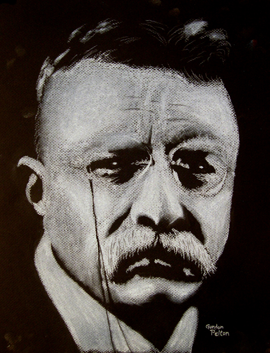 "Teddy Roosevelt 12"" x 16"" Unframed Pastel $3500 Giclee Copies Available PLACE ORDER"