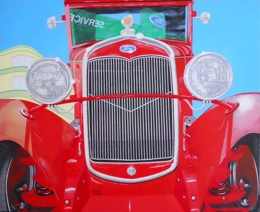 "1930 Ford Model A 56"" x 45"" Gallery-Wrap Acrylic $5795 Giclee Copies Available PLACE ORDER"