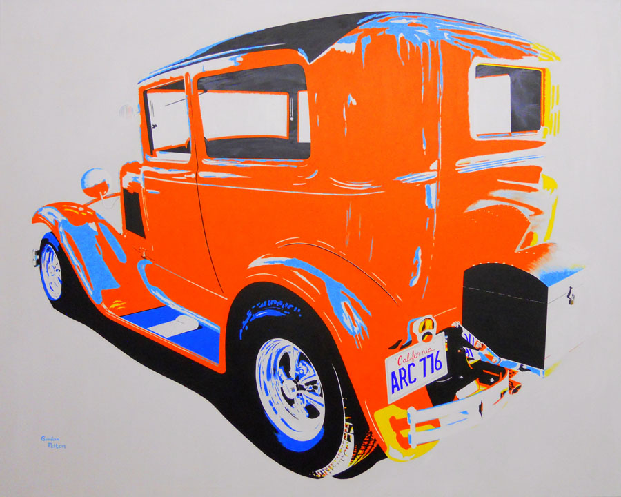 "1930 Ford Model A (Modified) 60"" x 48"" Gallery-Wrap Acrylic $5795 Giclee Copies Available PLACE ORDER"