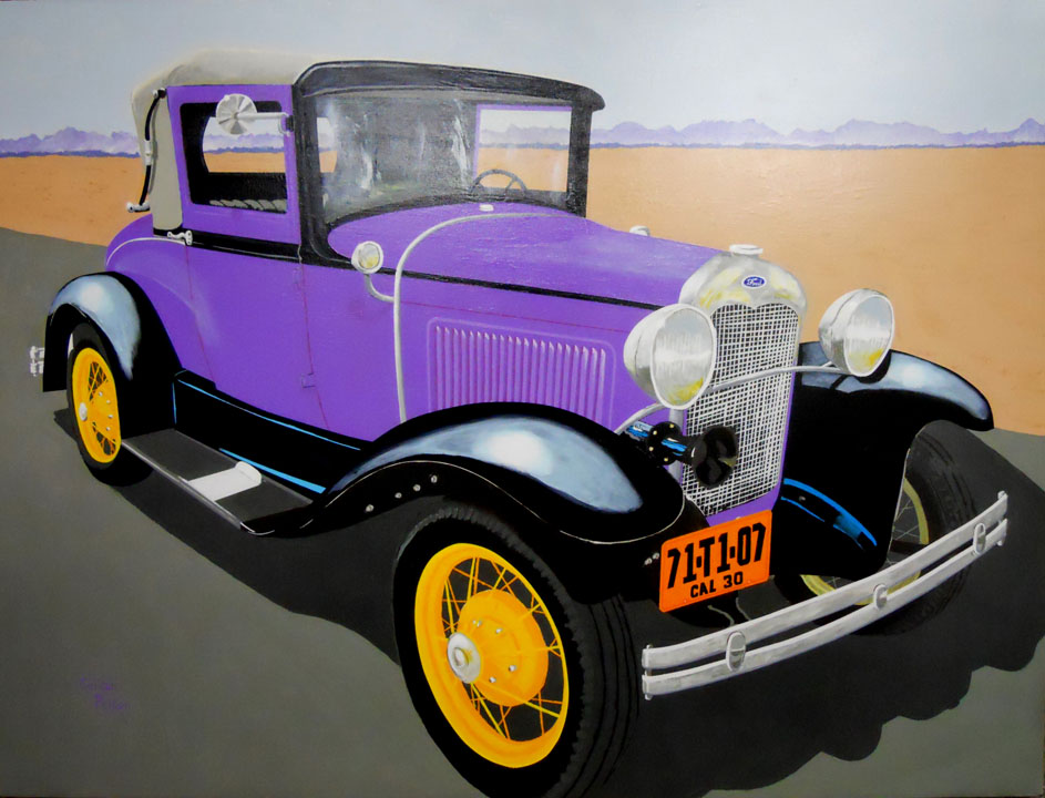 "1930 Ford Model A Roadster 48"" x 36"" Gallery-Wrap Enhanced-Giclee $2599 Giclee Copies Available PLACE ORDER"