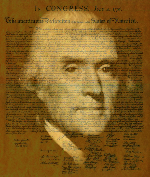 "Pres. Thomas Jefferson 12"" x 15"" Unframed     Photo of Painting on Declaration of Independence       Giclee Only $75 to $95 PLACE ORDER"