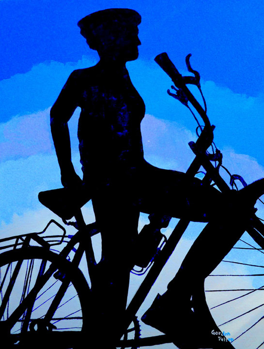 "Biker on Blue Sky   16"" x 20"" Gallery-Wrap Acrylic $1050  Giclee Copies Available     PLACE ORDER"