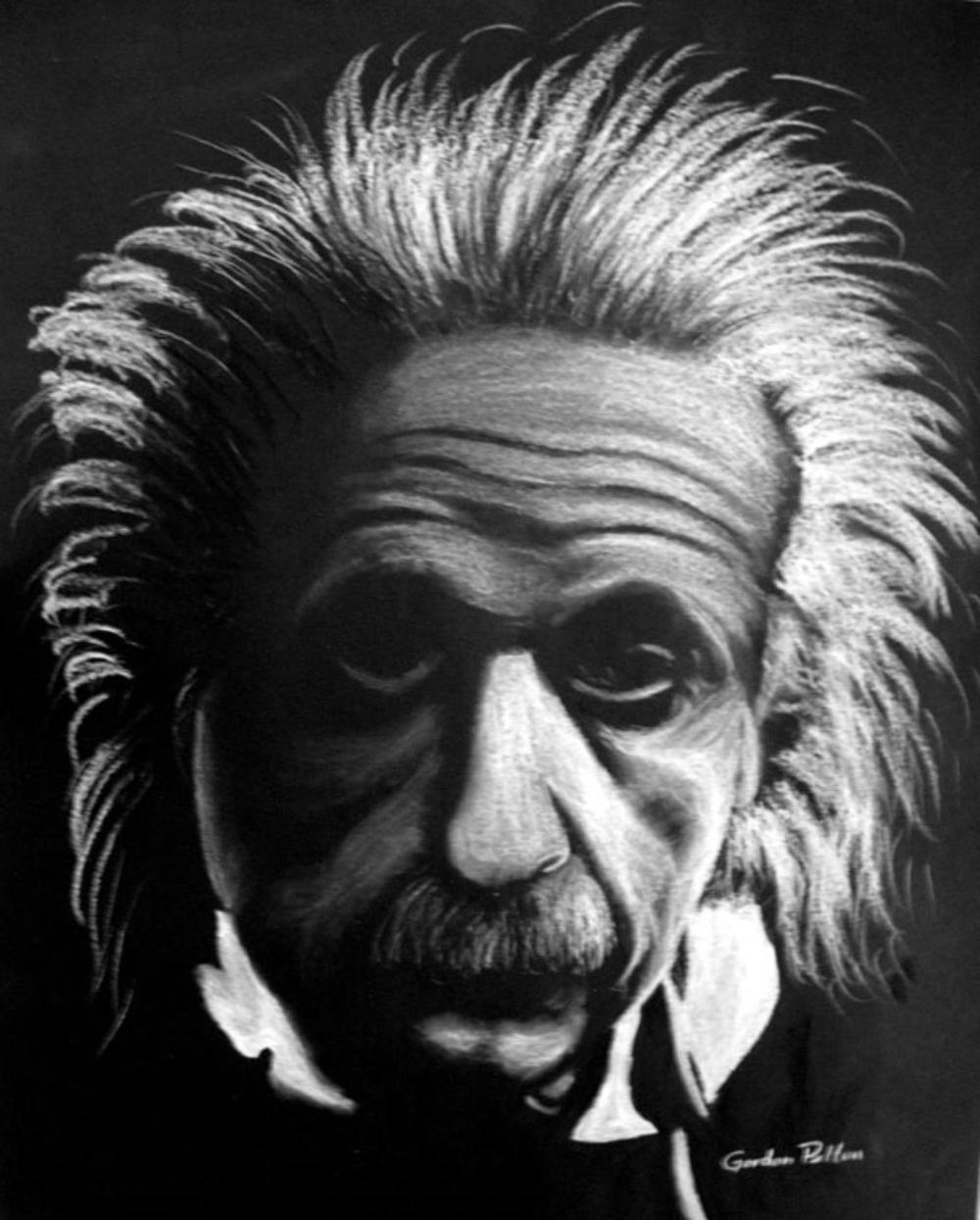 "Albert Einstein 2   12"" x 16"" Unframed Pastel $650  Giclee Copies Available       PLACE ORDER"