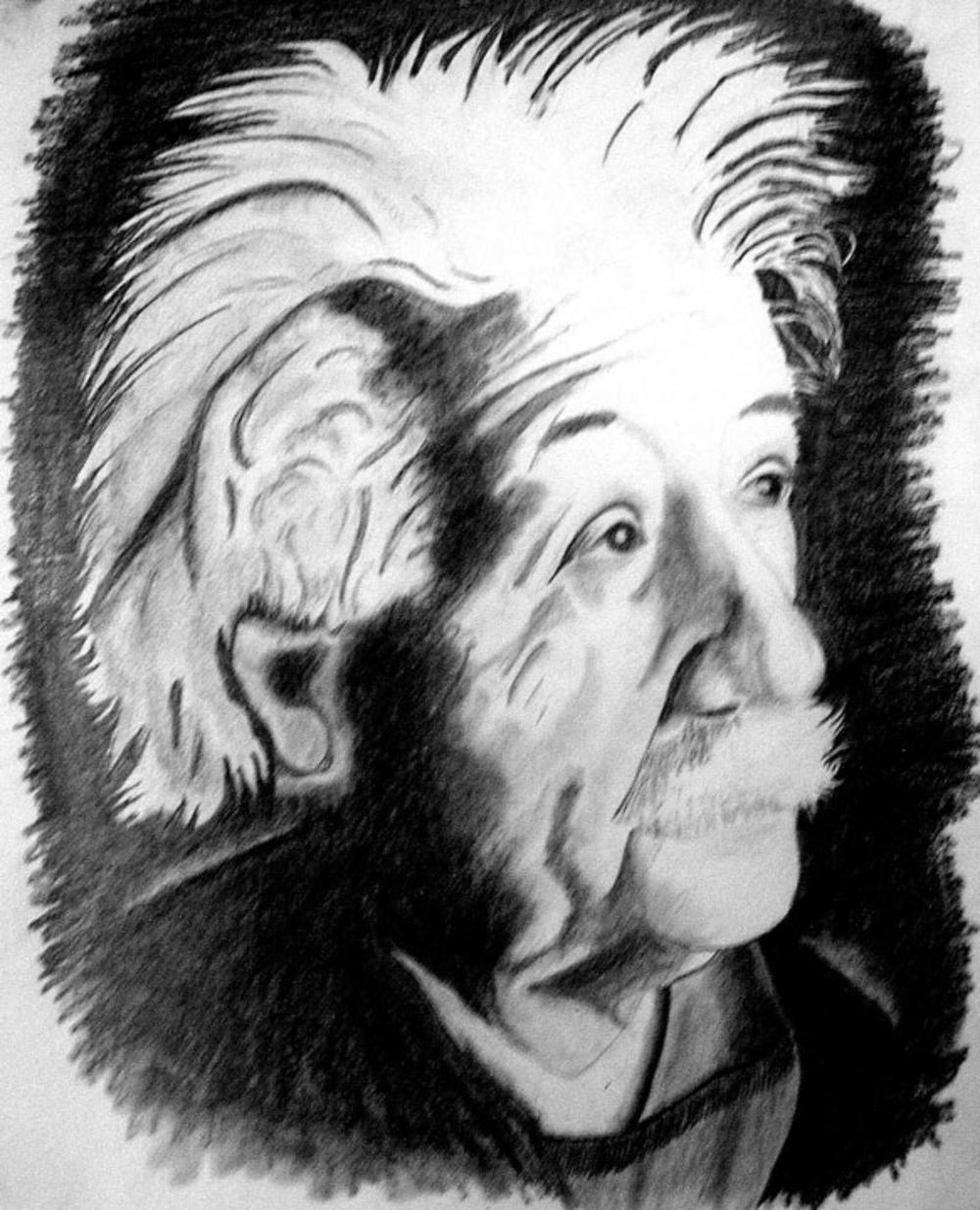 "Albert Einstein 5   10"" x 12"" Unframed Pastel $350  Giclee Copies Available       PLACE ORDER"