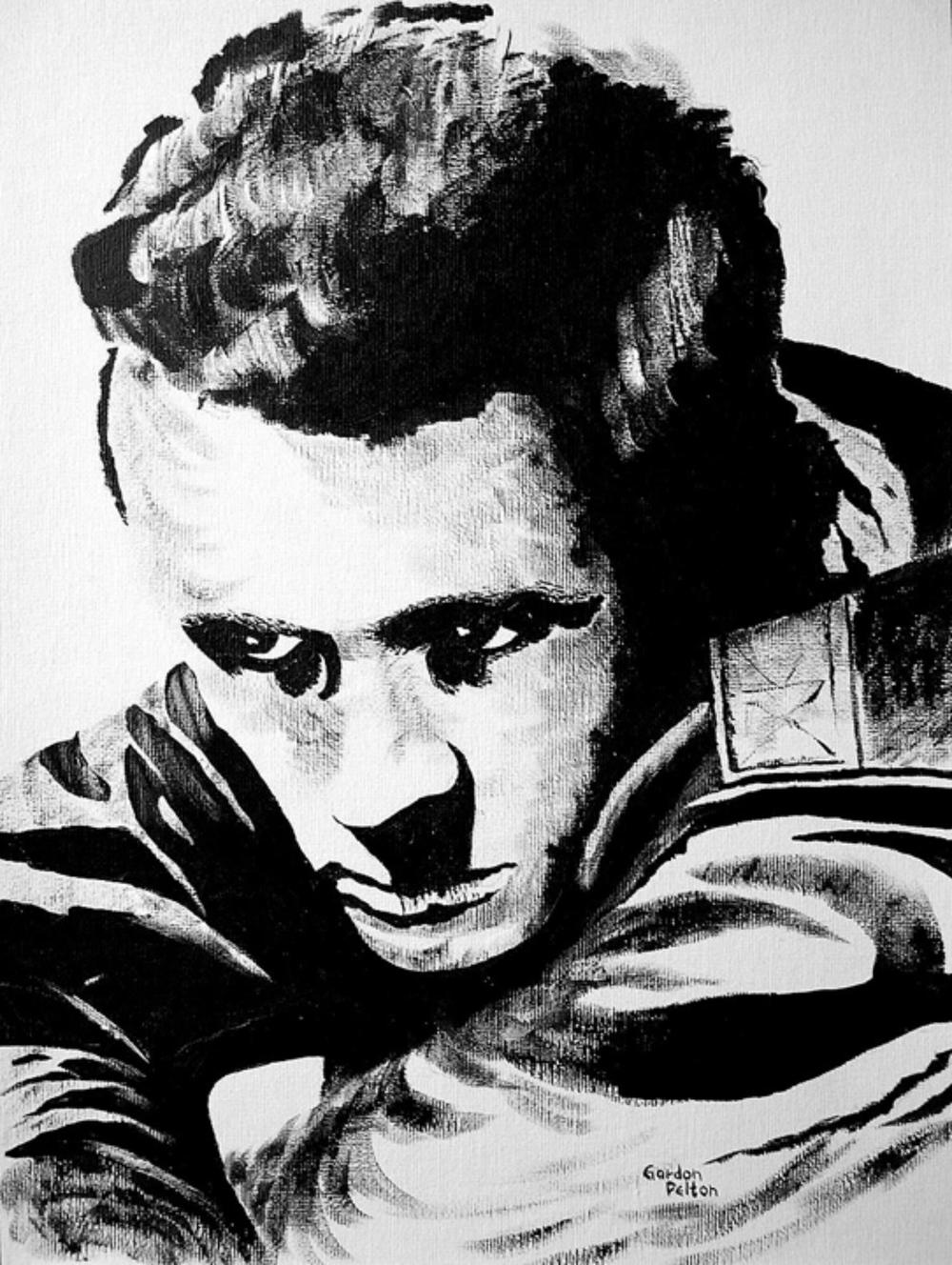 "James Dean   12"" x 16"" Unframed-Canvas Acrylic $750  Giclee Copies Available     PLACE ORDER"