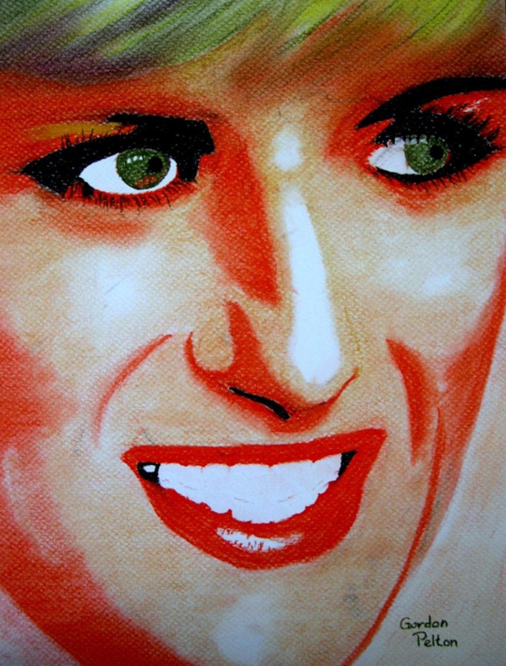 "Lady Di 9"" x 12"" Unframed Pastel $320 Giclee Copies Available PLACE ORDER"