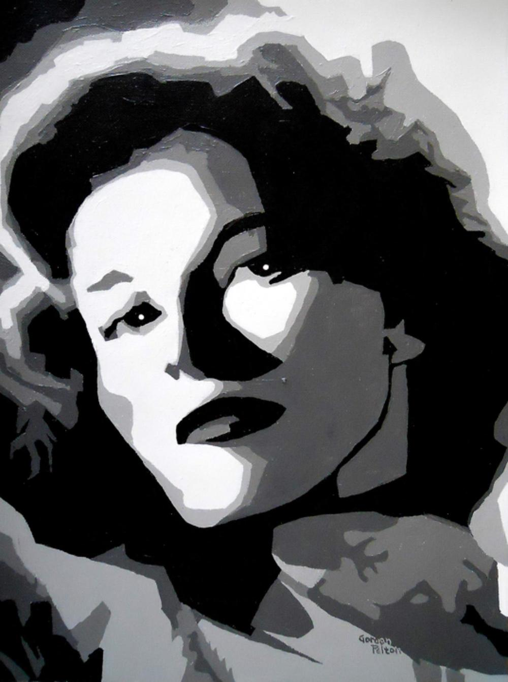 "Katharine Hepburn   12"" x 16"" Unframed-Canvas Acrylic $750  Giclee Copies Available     PLACE ORDER"