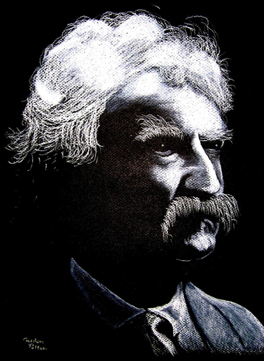 "Mark Twain   21"" x 24"" Unframed Pastel (Original Not for Sale)  Giclee Copies Available     PLACE ORDER"